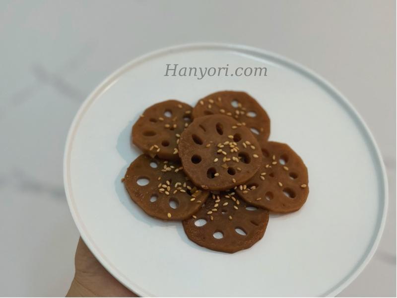 cách làm củ sen rim nước tương kiểu Hàn